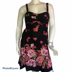 R&K floral print sweetheart dress